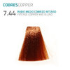 7.44 RUBIO MEDIO COBRIZO INTENSO INTENSE COPPER MID BLOND